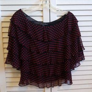 lillie rubin silk blouse